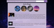 Astrology is the largest section on the site.